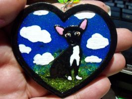 Blackie Resin Pendant by TashaAkaTachi