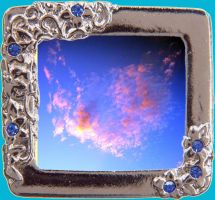 Pink Cloud In Fancy Frame by Aswang301