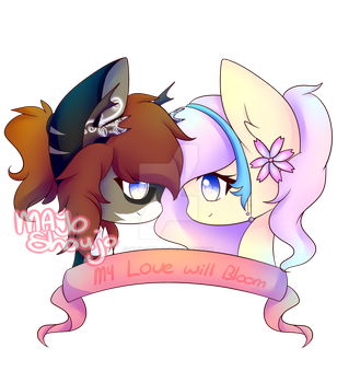 My Love Will Bloom ~ { Commission } by Majo-Shoujo