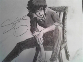Drawing Spike Spiegel by mrreallydeviant87