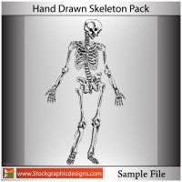 Hand Drawn Skeleton-Brush by Stockgraphicdesigns