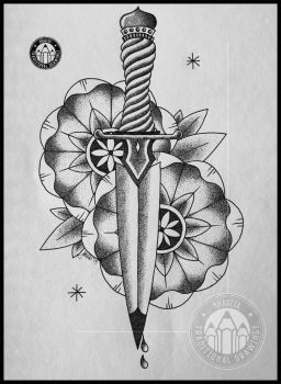 Dotwork Dagger by kharcix