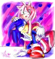 Valentine's Day SonAmy by QT-Star