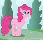 Bouncy Pinkie by erratictransparency