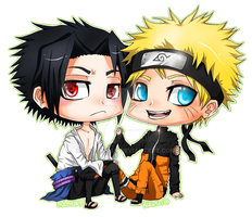CHIBI - SasuNaru by Razon-Fan
