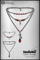 Urban Savage - Necklace garnet version by Aedil