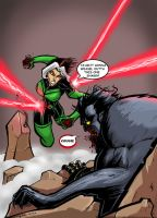 ROGUE VS DARK BEAST by Sabrerine911