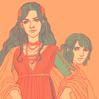 Morwen and Turin by girabbit