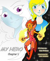 MY HERO (chapter 1) Comic Cover by IcePrince-and-Jay
