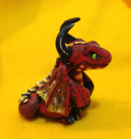 Red Dragon Sculpture by omfgitsbutter