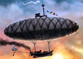 Airship by JohnMalcolm1970