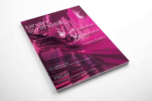 Free Electro Party Flyer - Binary Synthesis by isoarts2