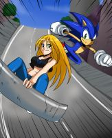 :Gift: Sonic and Dixie by ss2sonic