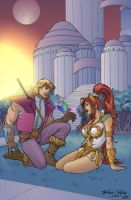 Prince Adam and Teela by Jukkart