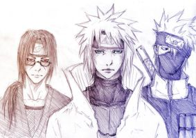 Yondaime and friends by Sanzo-Sinclaire