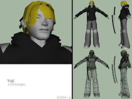 yuji game model wip002 by kurocrash