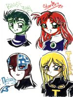 Teen Titans - sharpie by poofy-wings