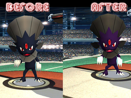 Shadow Weavile Re-Do by kailmanning
