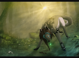 Of Golden Mist and Hidden Paths - Commission. by Eredhys