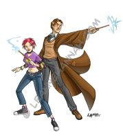 Remus and Tonks by stratosmacca