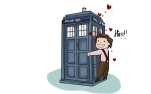 Eleven and the TARDIS by FaniRiver