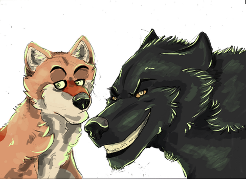 WIP Brody and Aflie by GSimonC