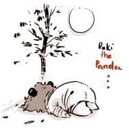 Ruki the sleeping panda by Alzheimer13