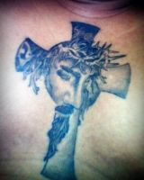 Jesus Face in Cross by hassified