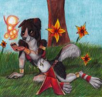 (PINUP WEEK) Border Collie Mage by Specter1099