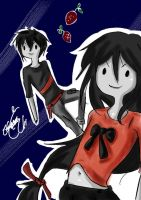 Marceline and marshall Lee~ by YuuAngel