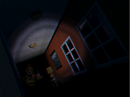 Nightmare Chica Hide 3D by Cosmicmoonshine