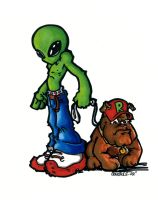 Alien and Rex by donchewliano