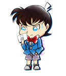 Conan with Kid's message - Little Gift for Thy ~ by chichicherry123