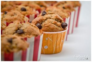 Banana Walnut Chocolate Chip Muffin 02 by PoodleSchmoodle