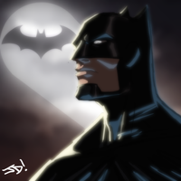 Batman Headshot by JoeMDavis