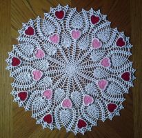 Pineapple Heart Doily by koepr5333