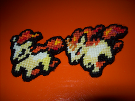 Ponyta and Rapidash Pins by AprilMoonshine