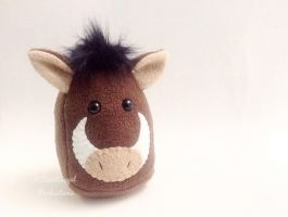 Stuffed Boar Plushie, Plush Wild Warthog Animal by Saint-Angel
