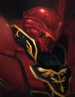 Sinanju - Sketch paint by ArtNotHearts