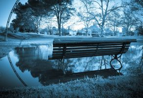 Reflection and Bench by aptiaa