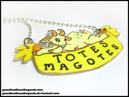 Totes Magotes Necklace by GrandmaThunderpants