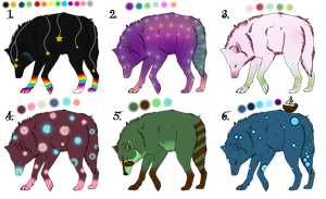 Wolf Point Adoptables 3 by Whispered-Time