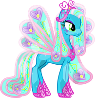 Crystal Ellie the Peacock Princess by Vector-Brony