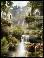 Matte-Painting 'Rivendell' by Forum-Toshop