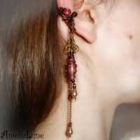 Dark romantic ear cuff by AmeliaLune