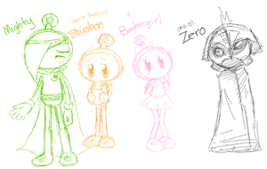 Bomberman Jetters Doodles by Bichu
