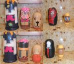 Markiplier Nesting Dolls by DaMushroom