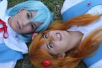 Ayanami Rei and Asuka - Hear our prayer. by SenbonzakuraCosplay