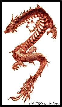 Chinese Dragon SKetch by Richi89