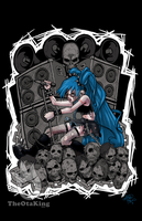 Blackest of Metal Miku by sykoeent